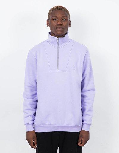 Polar Zip Neck Sweatshirt Lavender