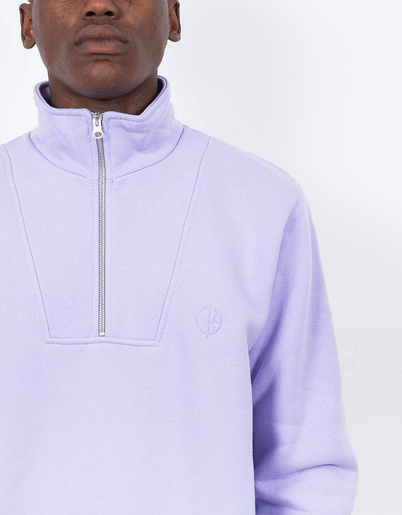 Polar Zip Neck Sweatshirt Lavender