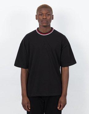 Polar Polar Striped Rib T-shirt Black