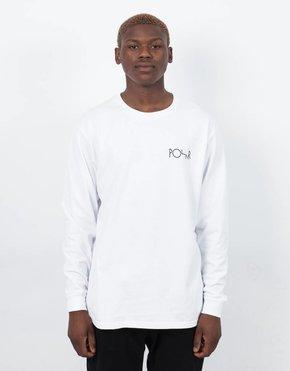 Polar Polar Fill Logo Longsleeve T-Shirt White Black