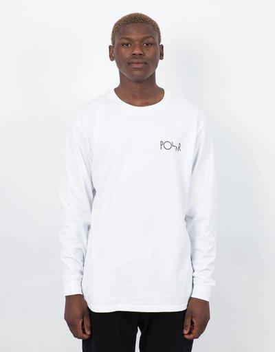 Polar Fill Logo Longsleeve T-Shirt White Black