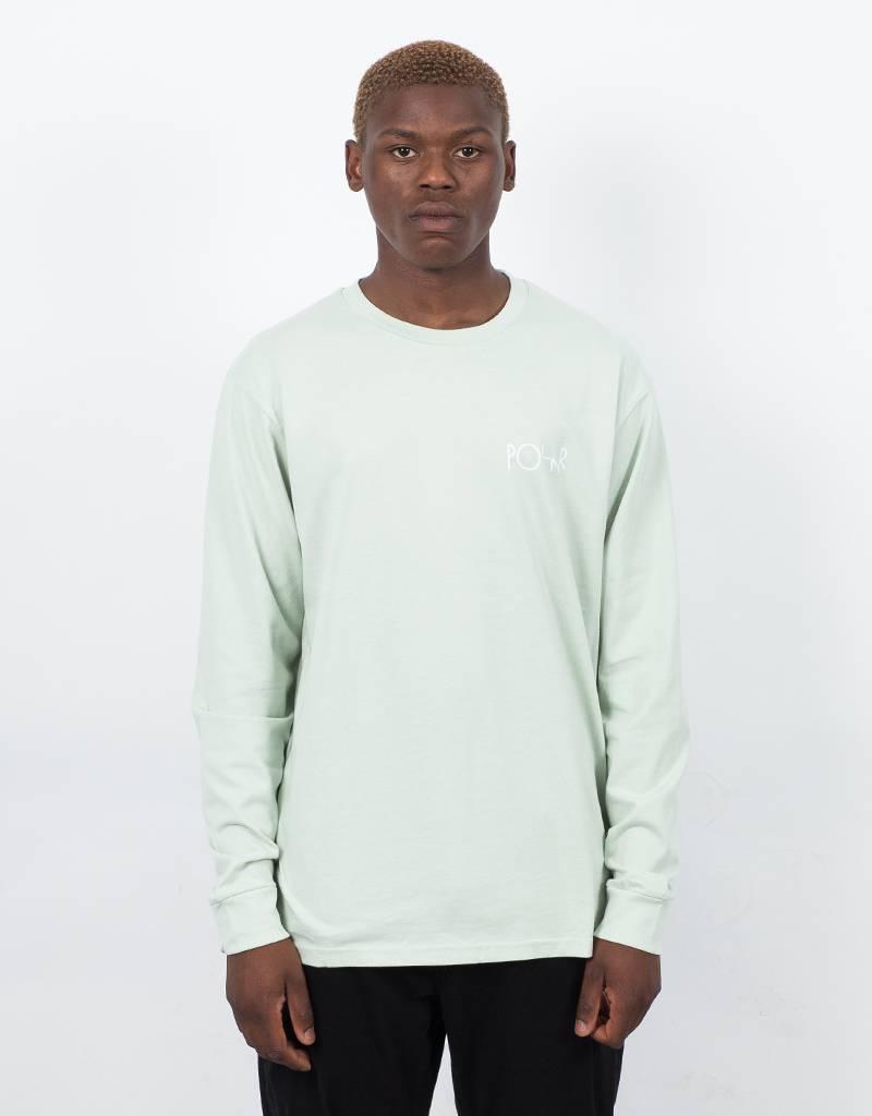 Polar Stroke Logo Longsleeve T-shirt Sea Foam Green