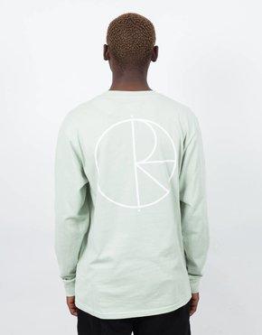 Polar Polar Stroke Logo Longsleeve T-shirt Sea Foam Green
