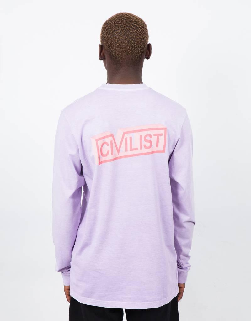 Civilist 3D block longsleeve T-shirt violet