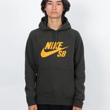 Nike SB Icon Hoodie Sequoia/Circuit Orange
