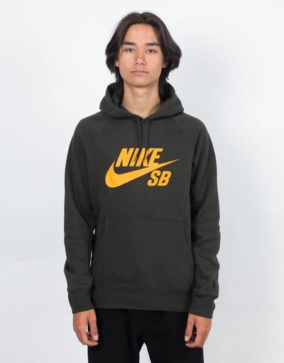 Nike SB Icon Hoodie Sequoia/Circuit Orange