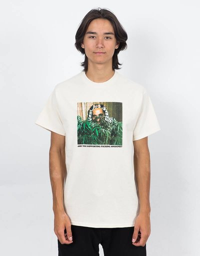 Fucking Awesome Support T-Shirt Cream