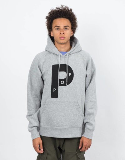 Pop Trading Co Big P Heather Grey