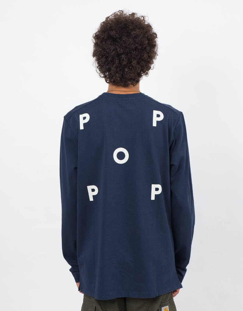 Pop Trading Co Logo Longsleeve Navy