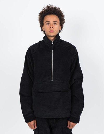 Pop Trading Co Corduroy Halfzip Jacket Black