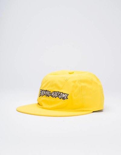 Fucking Awesome Outline Logo Cap Yellow