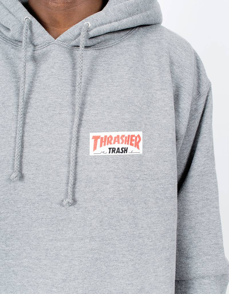 Fucking Awesome x Thrasher Thrash Me Hoodie Heather Gray