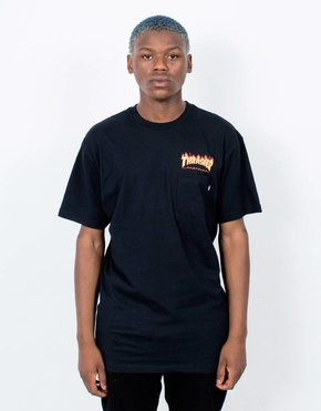Vans Vans x Thrasher Flame Pocket T-Shirt Black