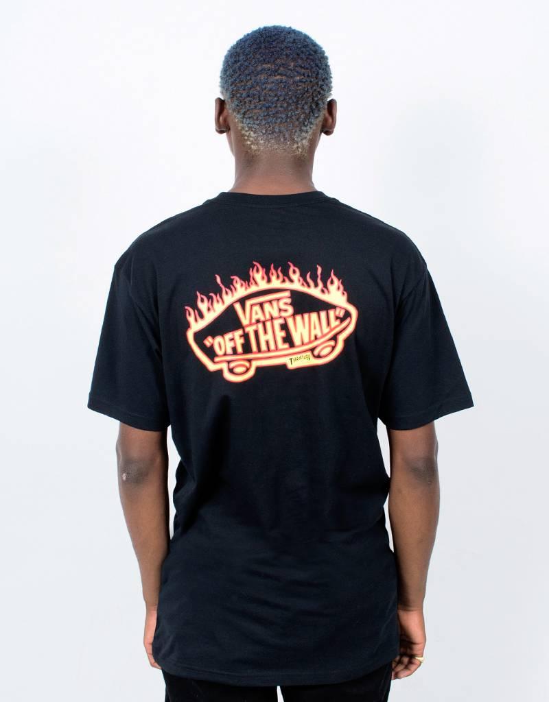 Vans x Thrasher Flame Pocket T-Shirt Black