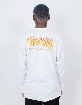 Vans Vans x Thrasher Checker Longsleeve White