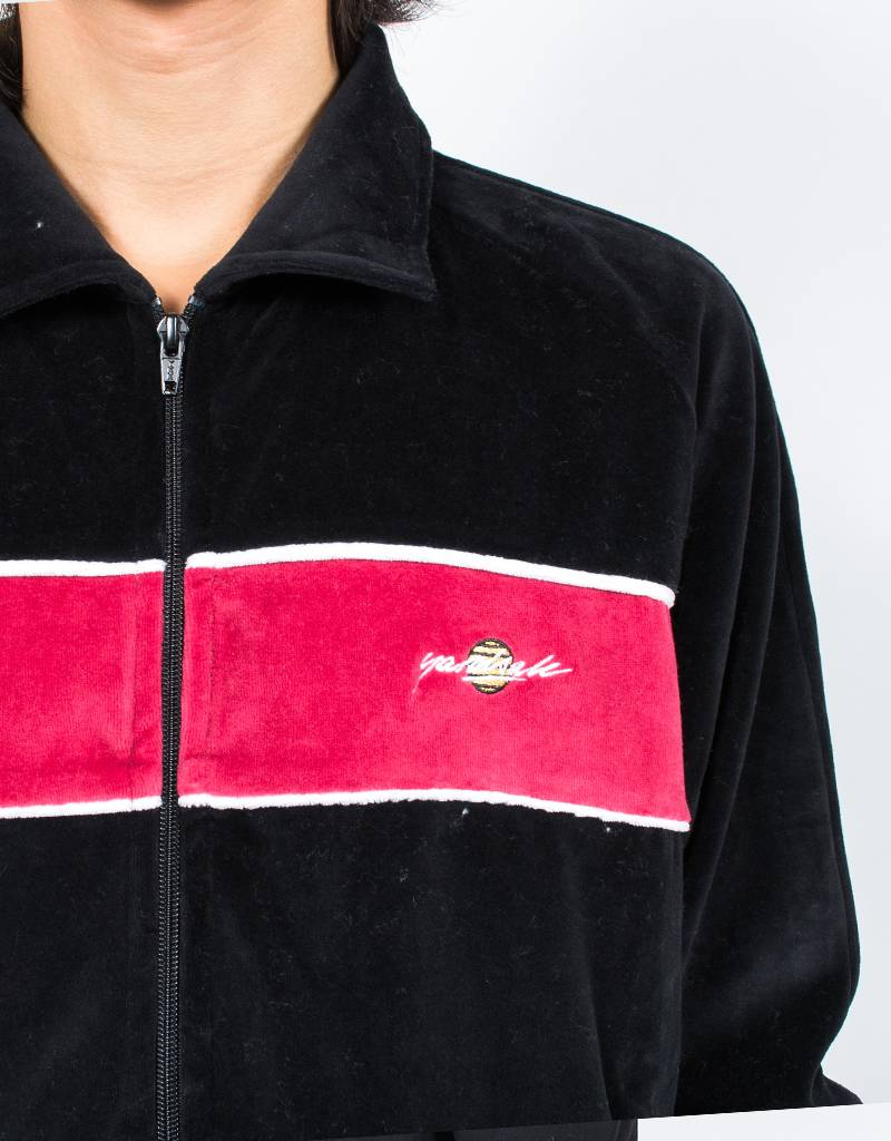 Yardsale Black Velour Tracktop