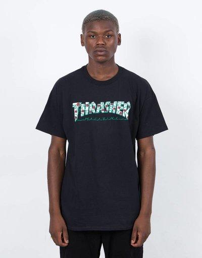 Thrasher Roses Short Sleeve T-shirt Black