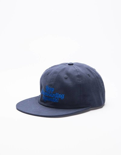 Quartersnacks X Streetmachine Flat Cap Navy