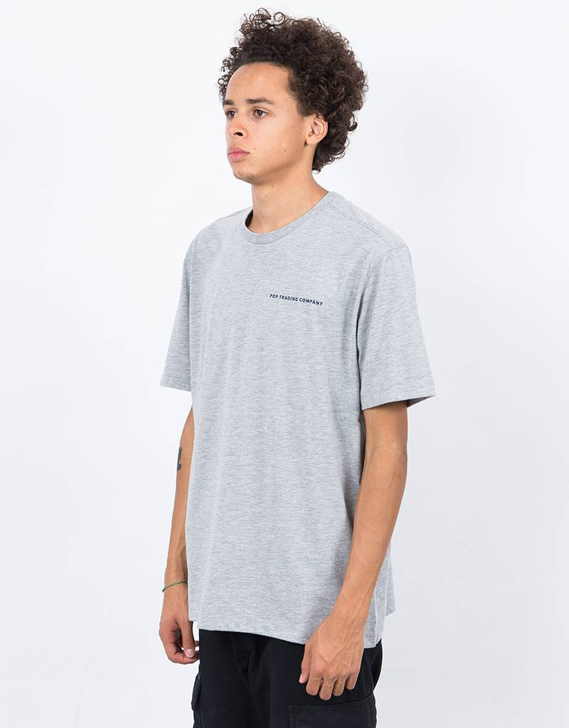 Pop Trading Co Logo T-Shirt Heather Grey