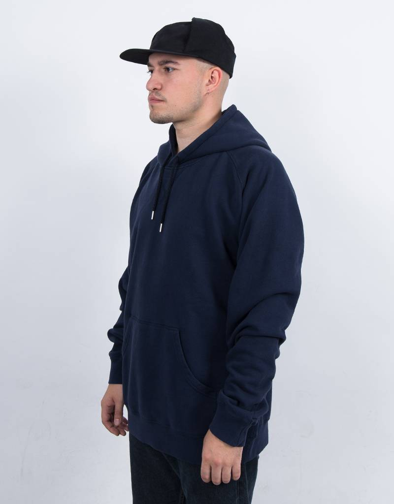 Pop Trading Co Logo Hoodie Navy