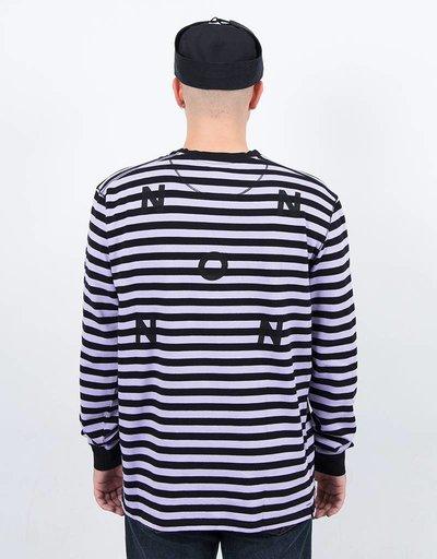 Pop Trading Co Non Logo Longsleeve Black/Violet
