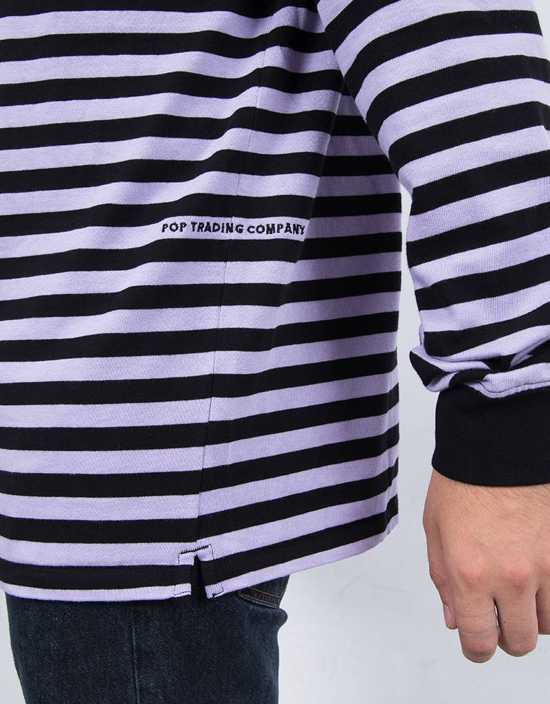 Pop Trading Co Non Logo Longsleeve Black/Violet