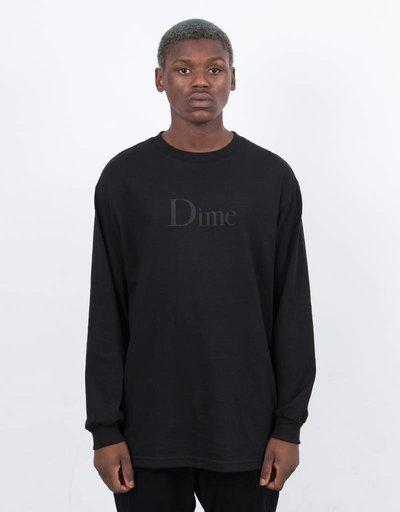 Dime Classic Logo Longsleeve T-Shirt BlacK