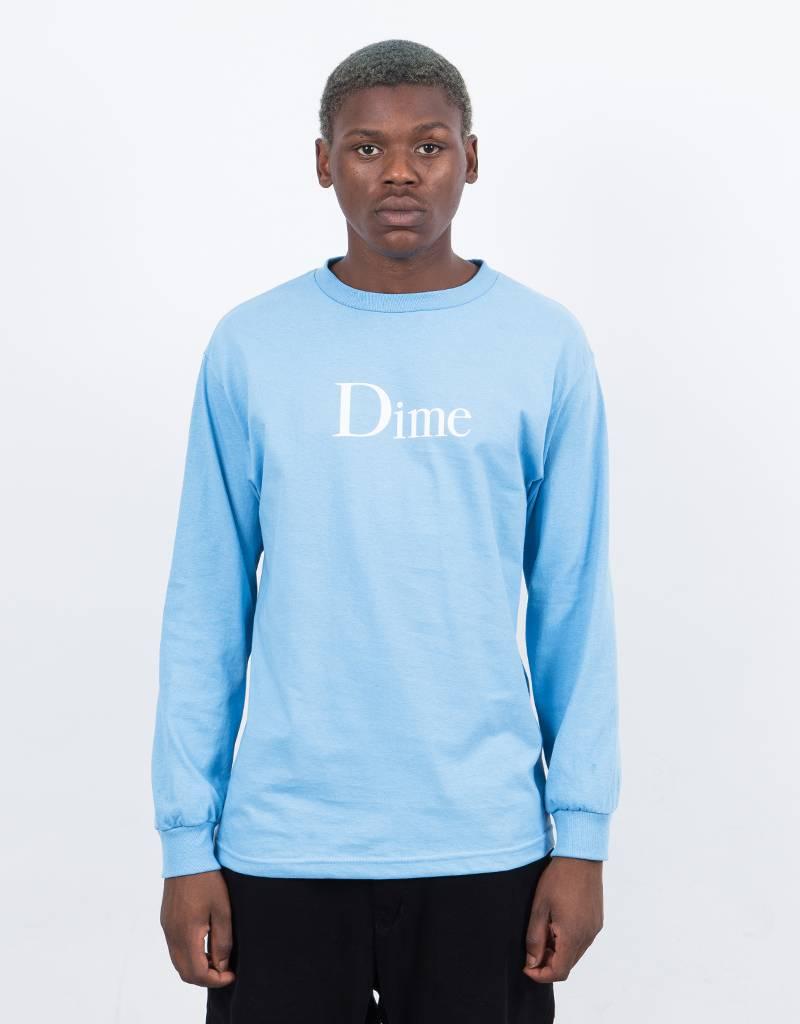 Dime Classic Logo Longsleeve T-Shirt Blue