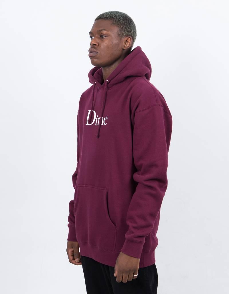 Dime Classic Logo Hoodie Burgundy