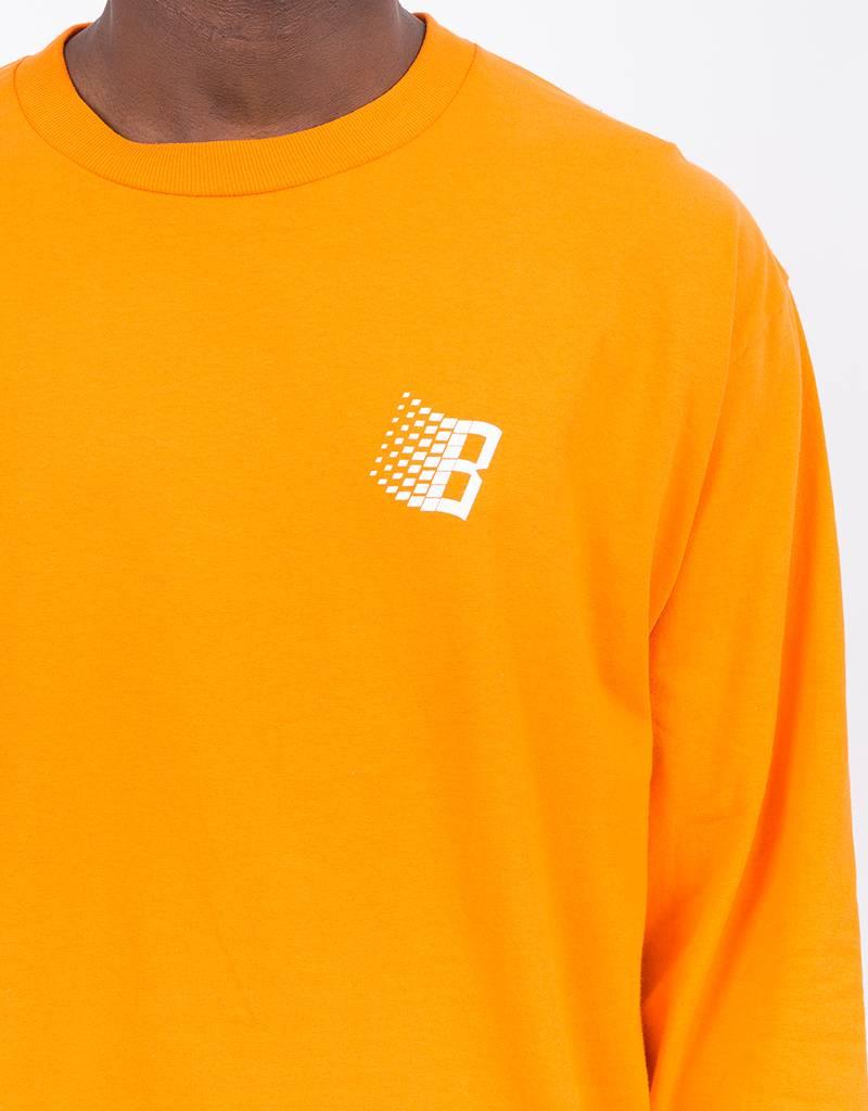 Bronze B Logo Longsleeve Orange/White