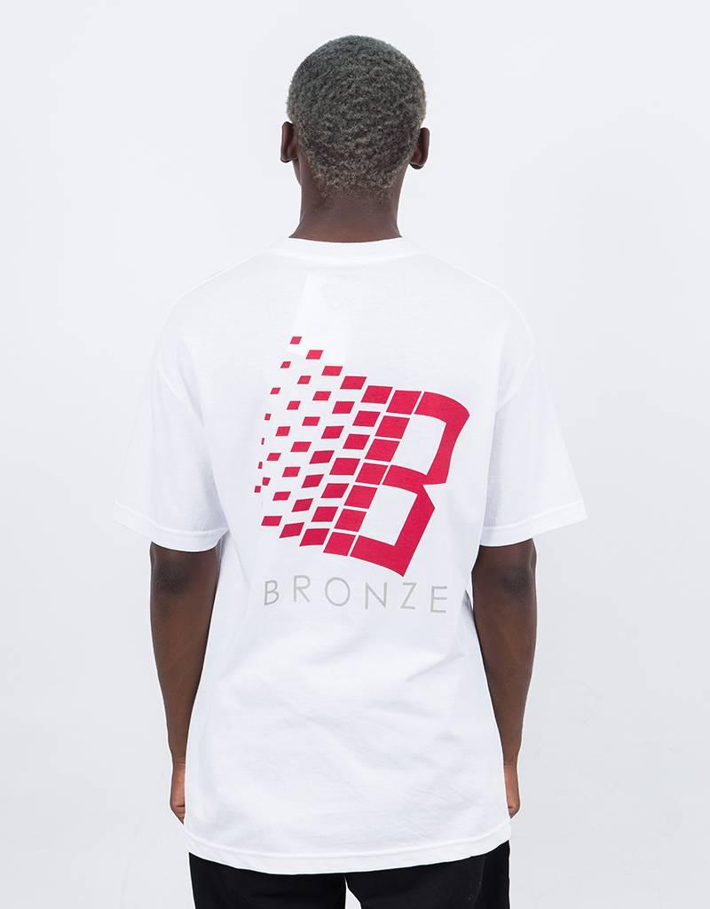Bronze B Logo T-Shirt White/Burgundy/Grey