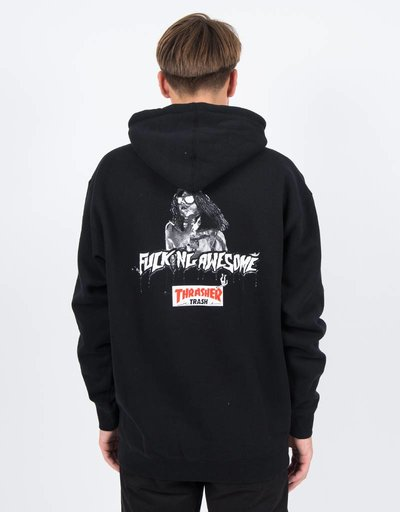 Fucking Awesome x Thrasher Thrash Me Hoodie Black