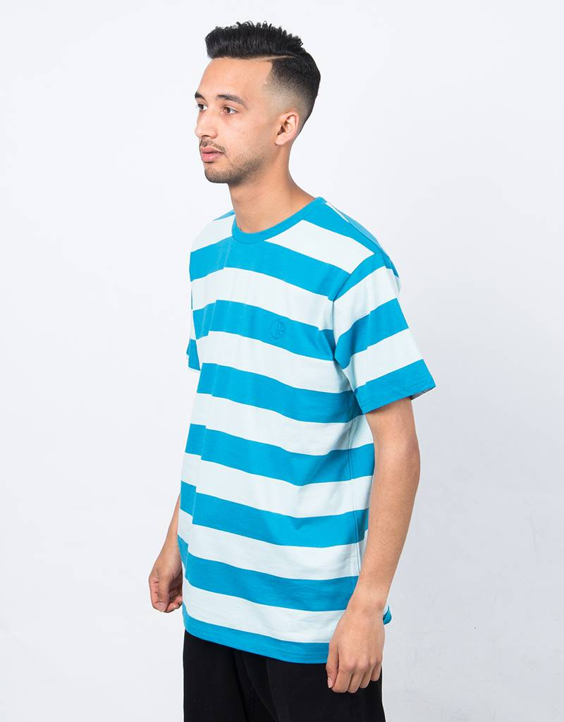 Polar x Dear Skating Block Stripe T-Shirt Mint/Teal
