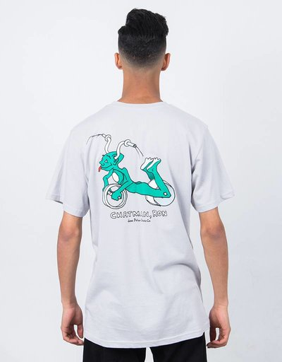 Polar x Dear Skating Ron Chatman Pro T-shirt Ice Grey