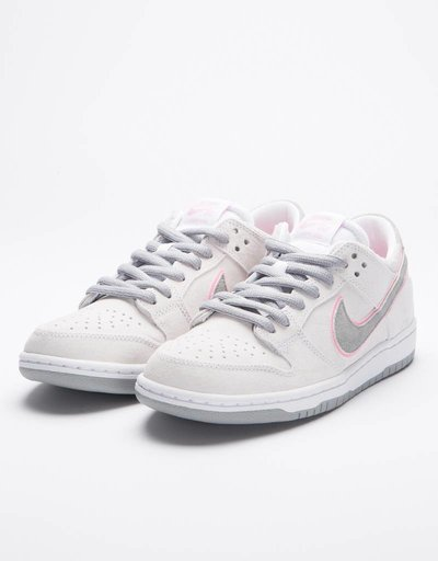 Nike SB Zoom Dunk Low Pro White/Pink/Silver