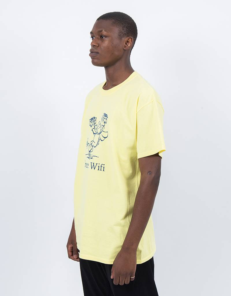 Free Wifi Beerman T-shirt Yellow
