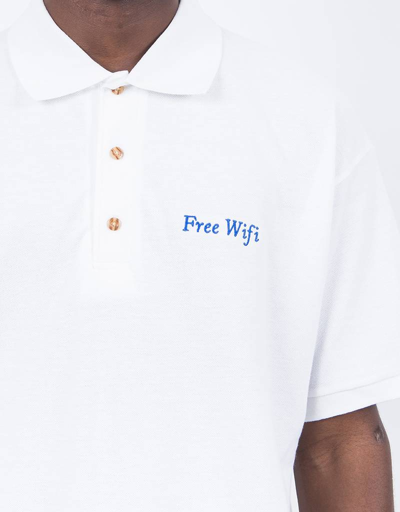 Free Wifi Logo Polo White
