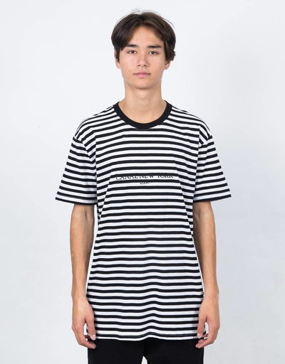 Canal USA Striped T-Shirt Black