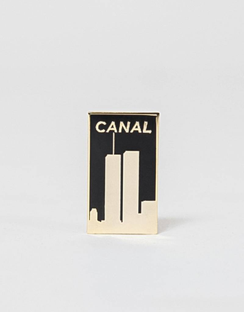 Canal Towers Pin Gold/Black