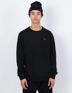 Parra Parra Colored Bird Crew Black