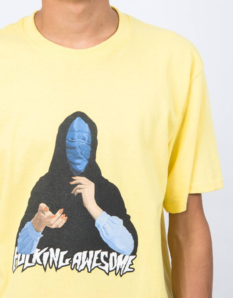 Fucking Awesome Blue Veil T-Shirt Yellow