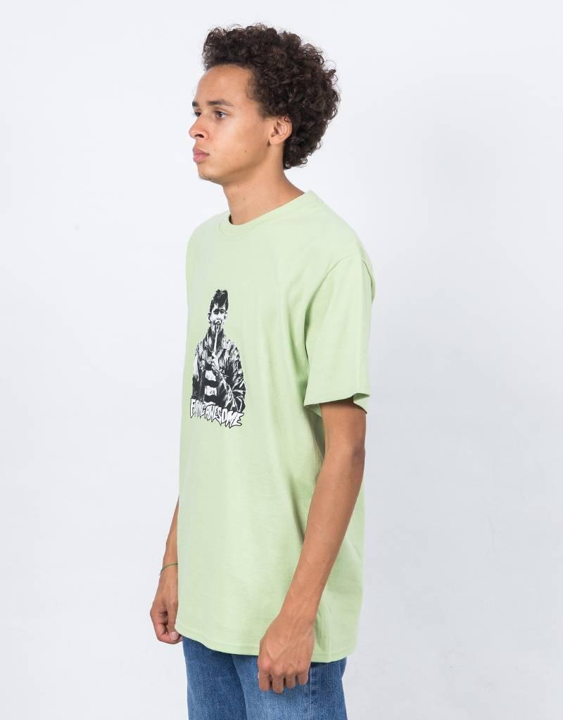 Fucking Awesome Knife Tongue T-Shirt Pistacchio
