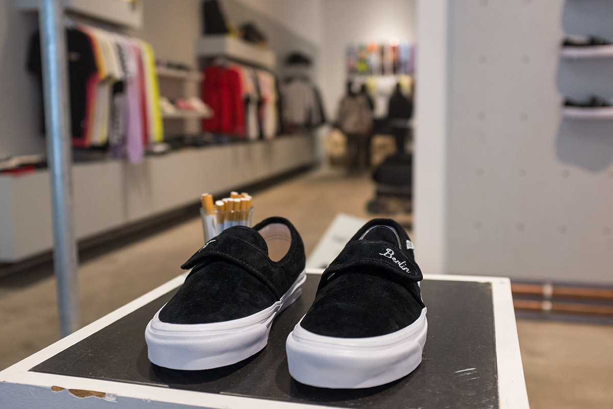 ffd23354814 The pack consists of two Authentic Pro s  a cigarette one in a true white  colorway with light grey stripes over the upper and filter-yellow insoles  to ...