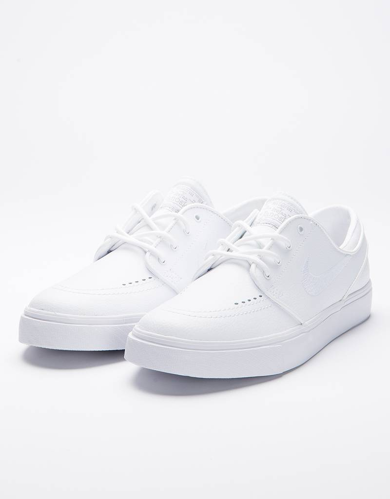 Nike Zoom Stefan Janoski Leather White/White Wolf Grey
