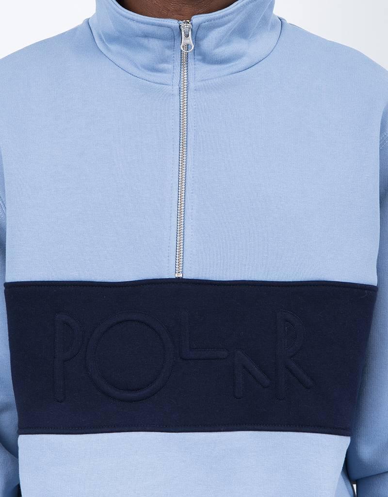Polar Block Zip Crewneck Dusty Blue/Navy