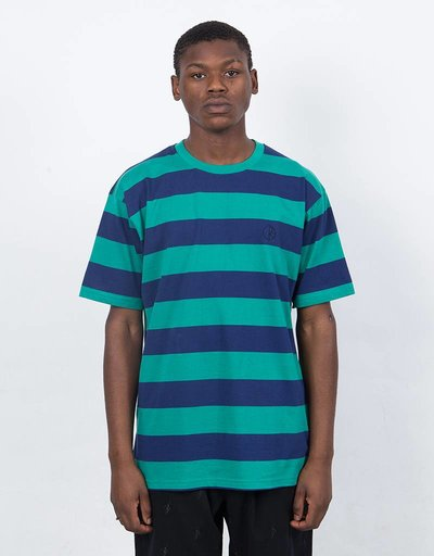 Polar 91 Stripe T-Shirt Green/Navy