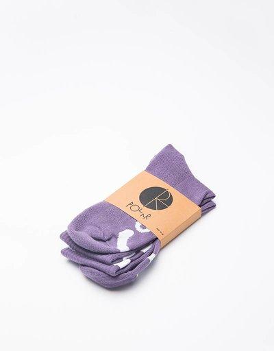 Polar Happy Sad Socks Lilac