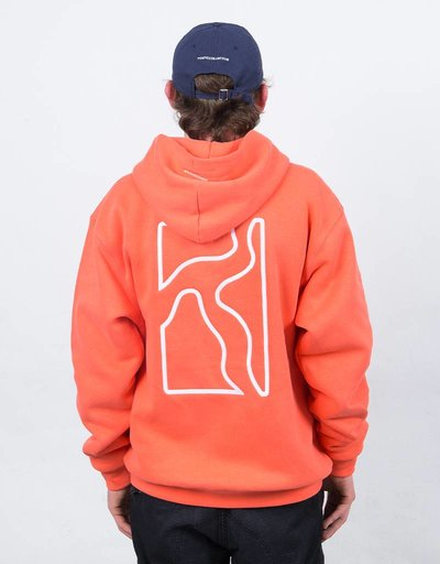 Poetic Collective Context Hoodie Coral