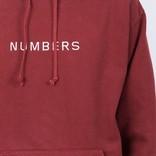 Numbers Embroidered Wordmark Hoodie Burnt Orange