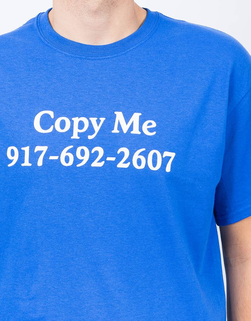 Call Me 917 Copy Me  T-Shirt Blue